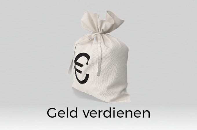 weißer Sack mit Euro Zeichen und darunter der Schriftzug