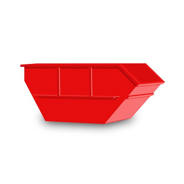 Roter Container auf weißem Hintergrund